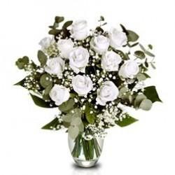 Ramo Docena de Rosas blancas Extra