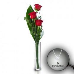 Ramo 3 rosas extra y colgante Attract Round