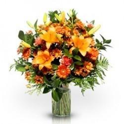 Ramo Mediano variado color naranja