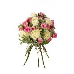 Bouque Grande de Rosa Blanca y Rosa Pitiminí