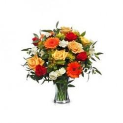Ramo Pequeño de Rosas Variadas Colores Cálidos