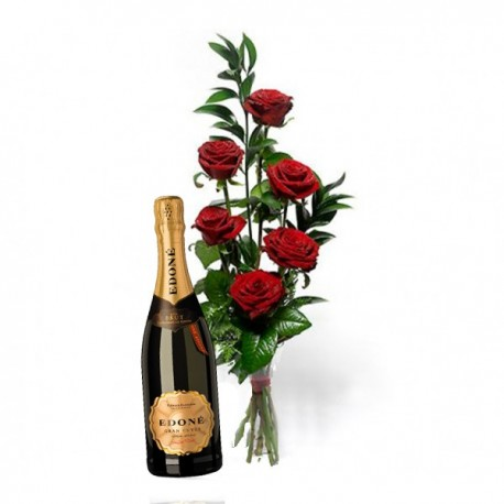 Pack 6 rosas extra y Edoné